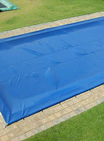 Towels and nets for pool covering